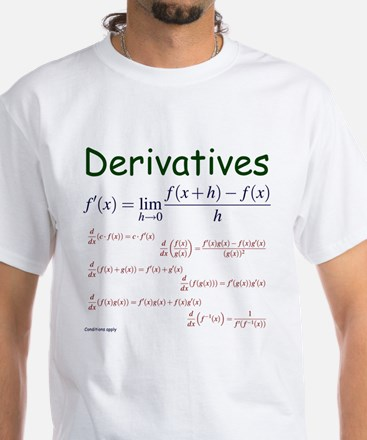 Derivative Formulas White T-Shirt