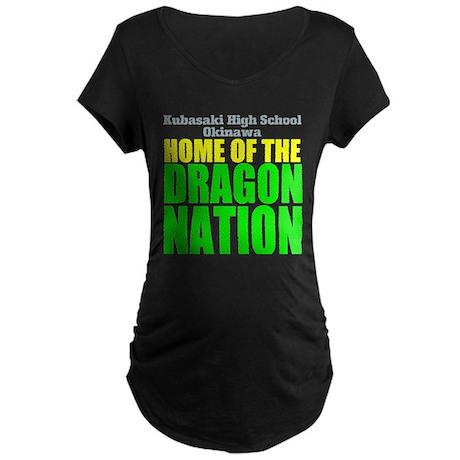 Dragon Nation Big Maternity Dark T-Shirt