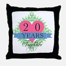 20th Wedding Anniversary Throw Pillow