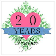 20th Wedding Anniversary Poster