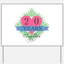 20th Wedding Anniversary Yard Sign