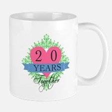 20th Wedding Anniversary Mugs