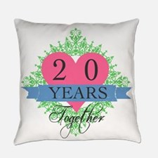 20th Wedding Anniversary Everyday Pillow