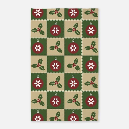 Christmas Quilt Area Rug