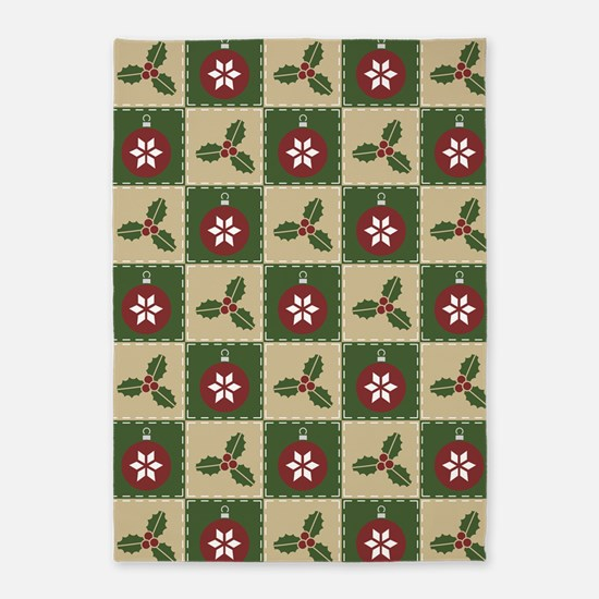 Christmas Quilt 5'x7'Area Rug