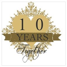 10th Wedding Anniversary Poster