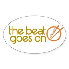 beat goes on circle 2c Decal