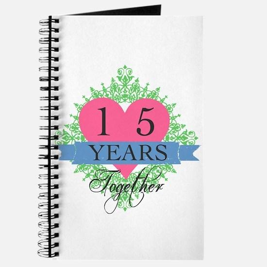 15th Wedding Anniversary Journal