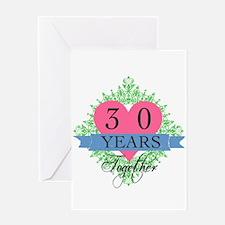 30th Wedding Anniversary Greeting Cards