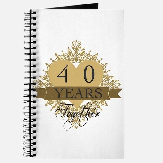 40th Wedding Anniversary Journal