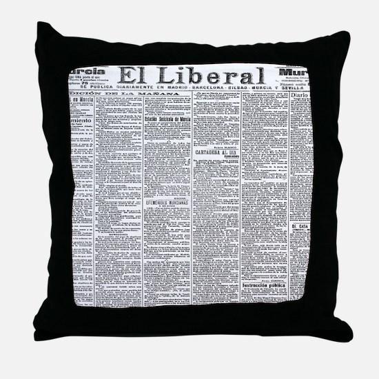 News Throw Pillow