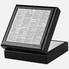 News Keepsake Box