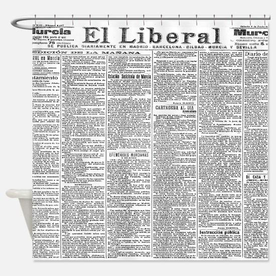 News Shower Curtain