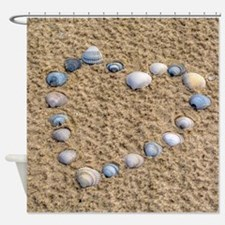Seashell heart Shower Curtain