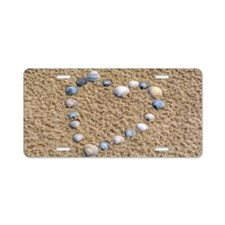Seashell heart Aluminum License Plate