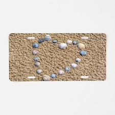 Seashell heart Aluminum License Plate