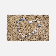 Seashell heart Area Rug