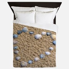 Seashell heart Queen Duvet