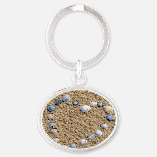 Seashell heart Keychains