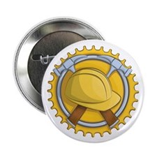 "Construction Badge 2.25"" Button (10 pack)"