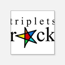 "Cute Triplet babies Square Sticker 3"" x 3"""