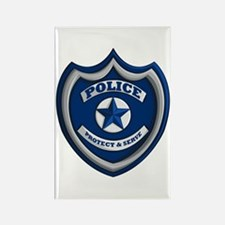 Police Badge Rectangle Magnets