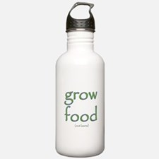 Grow Food Not Lawns Sports Water Bottle