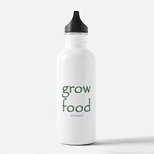 Grow Food Not Lawns Water Bottle