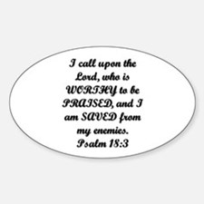 Psalm 18:3 Decal