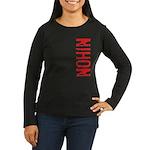 Nihon Women's Long Sleeve Dark T-Shirt