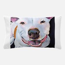 Charlie The Pitbull Dog Portrait Pillow Case