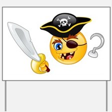 pirate emoji Yard Sign