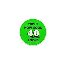 40th Birthday - Happy Birthda Mini Button