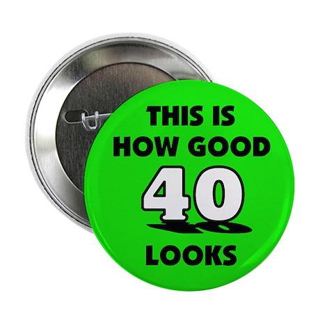 40th Birthday - Happy Birthda Button