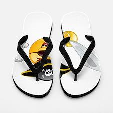 pirate emoji Flip Flops