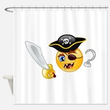 pirate emoji Shower Curtain
