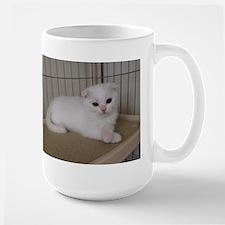 scottish fold white kitten Mugs