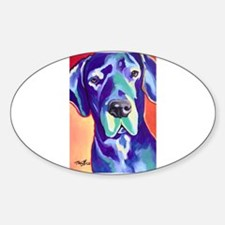 Gus The Great Dane with a Black Nose Decal