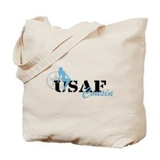 Sexy USAF Cousin - Blue Tote Bag