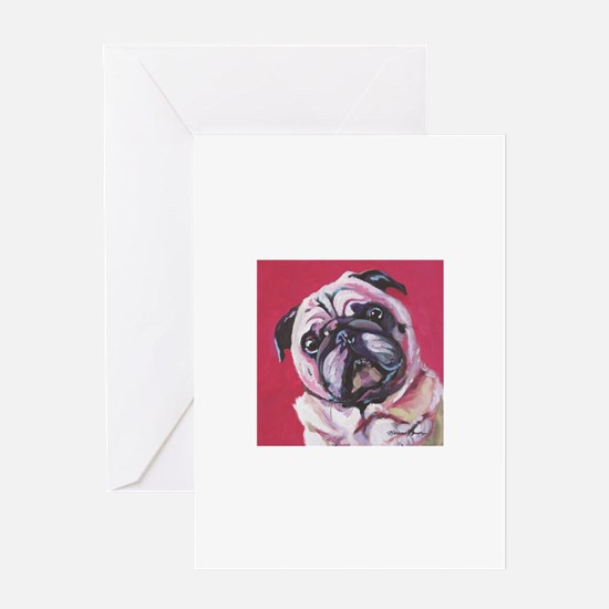 Daisy the Pink Pug Greeting Cards