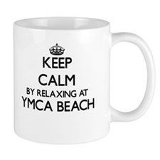 Keep calm by relaxing at Ymca Beach Wisconsin Mugs