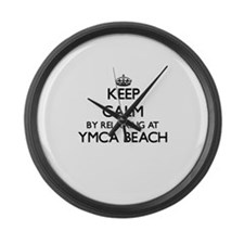 Keep calm by relaxing at Ymca Bea Large Wall Clock