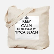 Keep calm by relaxing at Ymca Beach Wisco Tote Bag