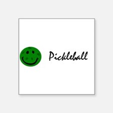 Funny Pickleball Smiley Face Sticker