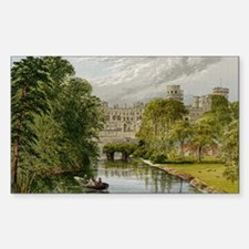 Warwick Castle Rectangle Decal