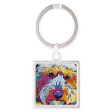 Sunshine The Doodle Square Keychain