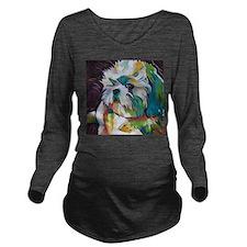 Shih Tzu - Grady Long Sleeve Maternity T-Shirt