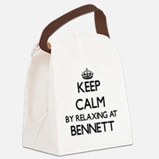 Keep calm by relaxing at Bennett Canvas Lunch Bag