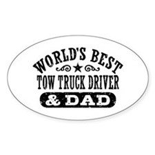 World's Best Tow Truck Driver & Dad Decal