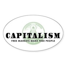 Capitalism Oval Decal